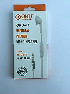 mono headset oku 01 -White