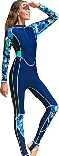 Fine Women's Full Body Thin Wetsuit, UV Protection Long Sleeves Dive Skin Suit - for Swimming/Scuba Diving/Snorkeling