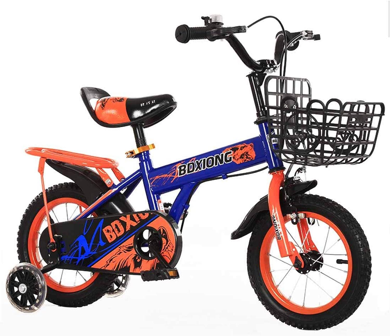 MUYU Bicicletta per Bambini 12(14,16,18,20) Pollici Bambino di 3-12 Anni Sedile Comfortable con rossoella Flash