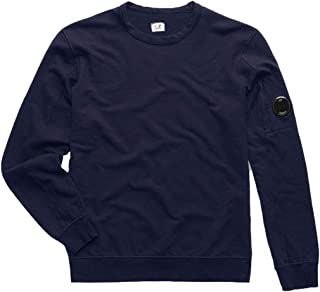 C.P. company Diagonal Fleece Lens Crew Sweater - Blue