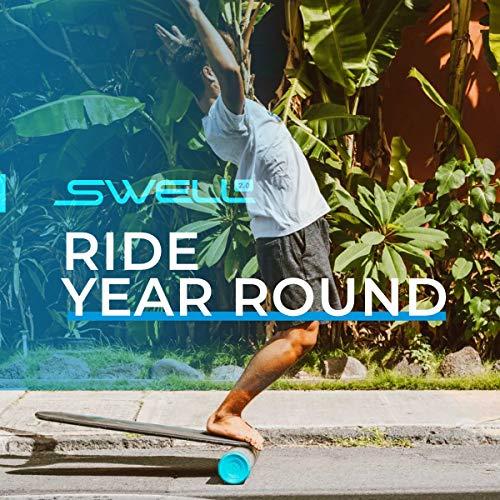Revolution Swell 2.0 | Surf & Paddle Balance Board Trainer (Midnight - Black)