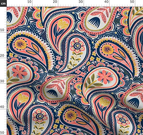 Paisley, Blumen, Gemustert Stoffe - Individuell Bedruckt von Spoonflower - Design von Laura May Designs Gedruckt auf Sport Lycra