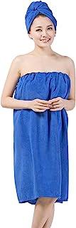 f3160e033e Ultra Absorbent Microfiber Sexy Spa Bath Wrap Cover Up Towels Set Soft Cozy  Fleece Terry Bathrobe