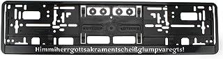 Bavariashop Kennzeichenhalter Himmiherrgottsakrament, Nummernschildhalter mit Spruch in bayerischer Mundart