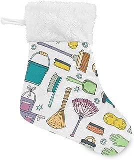 XiangHeFu Holiday Santa Bags Socks Xmas Colorful Cleaner Pattern Vacuum Decor Christmas Stocking Holders