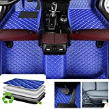 Custom Diamond Floor Mats for SEAT Arona Leon,All Weather Waterproof Protection Car Floor Mats Liners Full Set,Blue