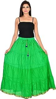 Generic Women'S Green Skirts(Jiskrt-122_Green_42W X 40L)