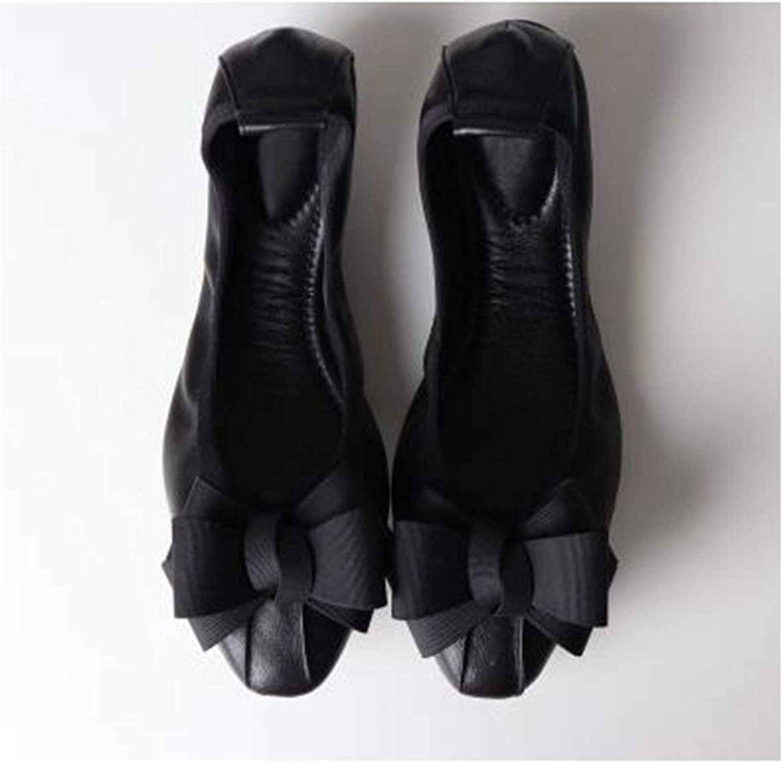 Bowknot Cone shoes Woman Flat shoes Fashion Square Head Women Super Soft Ballet Flats