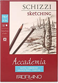 FABRIANO Accademia Sketching 120g 50sheets for Pencil, Charcoal, Pastel (A5)