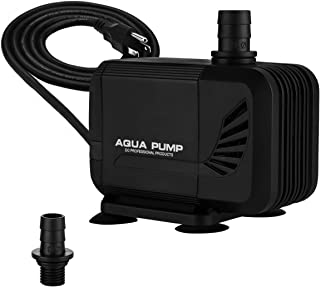 KEDSUM 320GPH Inline/Submersible Water Pump(1200L/H, 15W), Ultra Quiet Water Pump with 4.9ft High Lift, Fountain Pump with 6.5ft Power Cord, 2 Nozzles for Fish Tank, Pond, Aquarium, Hydroponics