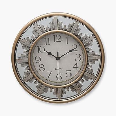 Home Centre Estelle Telsa Contemporary Wall Clock - Gold