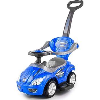 Kinderplay Rutschauto Hupe Lauflernwagen Fahrzeug - Farbwahl Kinderfahrzeug KP3523 NEU 4 Farbe, Rutscher Rutschfahrzeug Babyrutscher (KP3523Blau)