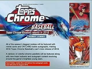 2018 Topps Chrome Baseball Jumbo Box (12 Packs/5 Autographs)