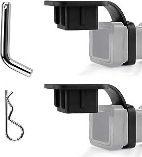 LITEBEE 2PACK Hitch Plug 2 Inch Trailer Hitch Cover Hitch Receiver Cover with Trailer Hitch Pin and Clip