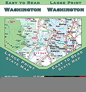 Washington Large Print, State Map