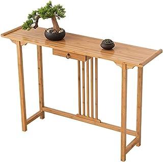 Yamyannie Table d'entrée Home Porche Décoratif Armoire Solide Wood Wall Side Table Petite Table étroite pour Entryway (Cou...