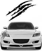YGMONER 1PCS Claw Marks Decal for Car Headlamp 14.6