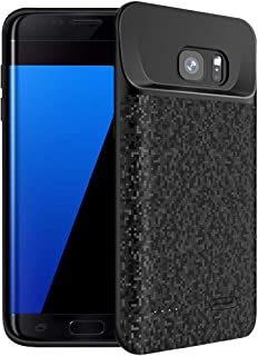 Galaxy S7 Edge Battery Case, FNSON 5000mAh Portable Protective Charging Case Extended Rechargeable Battery Pack Charger Case Compatible with Samsung Galaxy S7 Edge (Black)