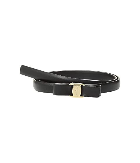 Salvatore Ferragamo Thin Vara Belt at Luxury Zappos com
