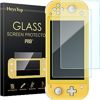 Nintendo Switch Lite 保護フィルム 【2枚セット】 HeysTop ニンテンドー Lite 液晶保護フィルム 任天堂 Switch Lite ガラスフィルム 9H高硬度 超薄 高透過率 指紋防止 気泡ゼロ 耐久性