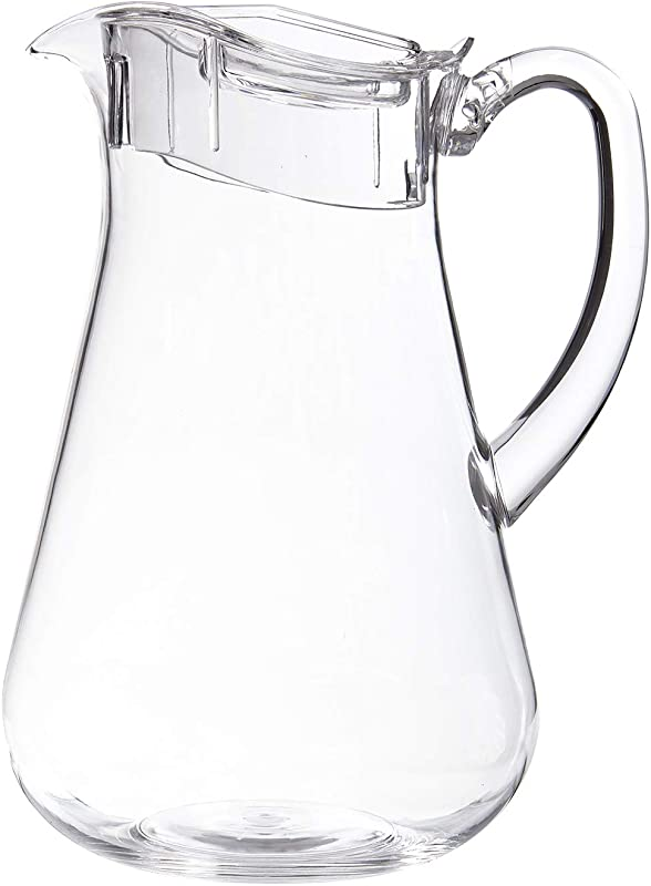 STORi Clear Plastic 64 Ounce Pitcher With Lid