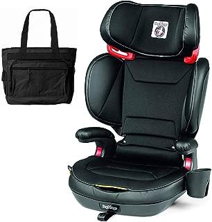 Peg Perego 2-in-1 Viaggio Shuttle Plus 120 Booster Car Seat with Bonus Diaper Bag - Licorice