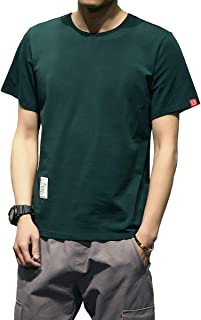 RanSy Tシャツ メンズ 半袖 カットソー インナー 無地 丸首 綿 大きいサイズ ゆったり カジュアル シンプル 夏 薄手