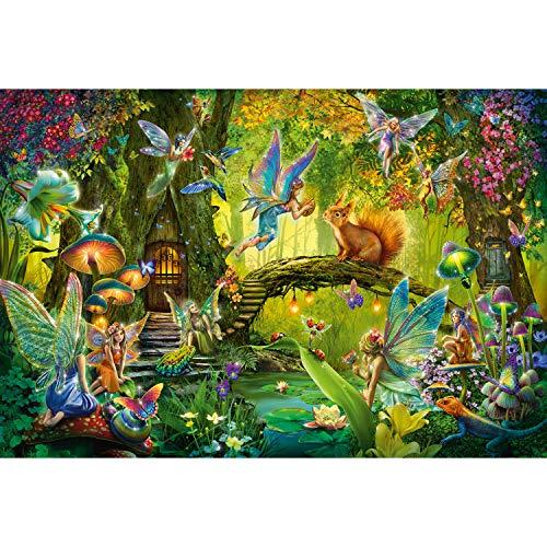 Schmidt Spiele Puzzle 56333 Feen im Wald, iklusive Feenstab, Kinderpuzzle, 200 Teile, bunt