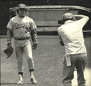 Historic Images - 1981 Press Photo Dodgers Baseball Player Fernando Valenzuela Poses for Picture.