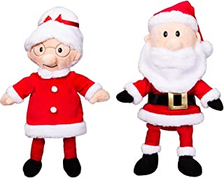 Christmas Mr and Mrs. Santa Claus 16 inch Plush Stuffed Ready to Love