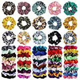 65Pcs Hair Scrunchies Velvet,Chi...