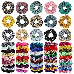 ❀What You Get:65 Pcs hair scrunchies,30*Velvet Hair Tie ,20*Satin hair bands ,15* Flower chiffon ponytail holders.The three materials scrunchies are suitable for all seasons, and you can make yourself more charming according to the change of seasons!...