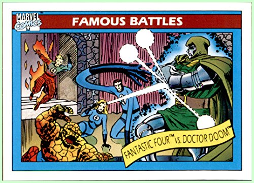 1990 Marvel Universe I #90 Fantastic Four vs. Doctor Doom Thing