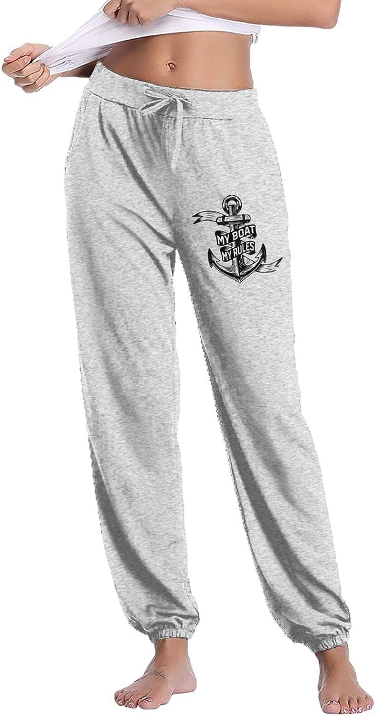 Gnimnehs My Boat My Rules Lightweight Women's Man Sweatpants Cot