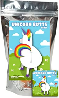 Unicorn Butts Candy - Assorted Fruit Jellies - Funny Valentines Day Gag Birthday Girl, Boy and Teens Gift
