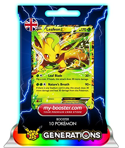 LEAFEON EX (Phyllali) 10/83 170HP XY Generations - Booster de 10 cartes Pokemon anglaises my-booster