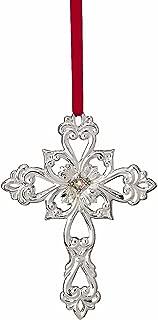 Lenox 2010 Filigree Cross Gemmed Ornament NEW in Box
