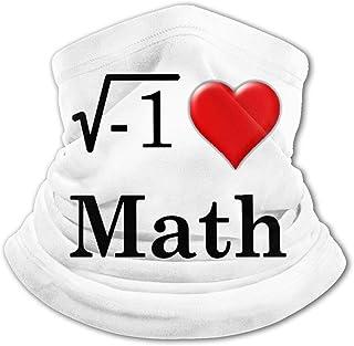 I Love Math - Pasamontañas para niños con protección UV para el cuello, resistente al viento, multifunción, para niños y n...
