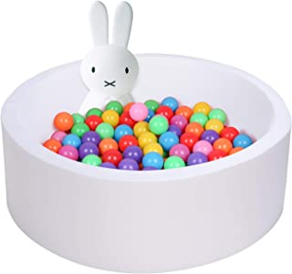 """UHAPPYEE Soft Ball Pit for Toddler, 35"""" x 12"""" Foam Ball Pit with Removable Cover, Indoor Memory Sponge Round Ball Pit With..."""