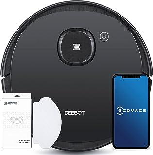 ECOVACS Deebot Ozmo 950 Care Zuig- En Dweilrobot, met Intelligente Navigatie, Google Home, Alexa en App-Besturing, Zwart, ...