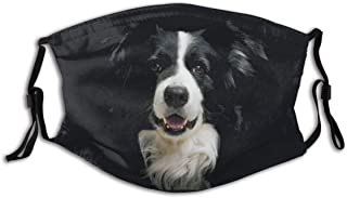 vipsung Loveable Border Collie Anti-Pet Hair Men Women Adult Outdoor Indoor Fashion Mouth Face Protection Cover Balaclava ...