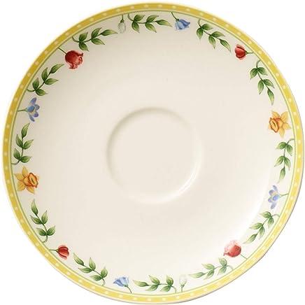 Preisvergleich für Villeroy & Boch Spring Awakening Untertasse, 14 cm, Premium Porzellan, Gelb/Grün/Rot