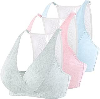 Maternity Nursing Bra, Lace Racer Back-Free Front Open Breast-Feeding Sleeping Bra Tank Top