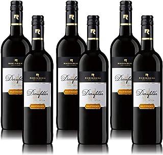 Rotwein Rheinberg Dornfelder Pfalz QbA, halbtrocken, sortenreines Weinpaket 6 x 0,75 l