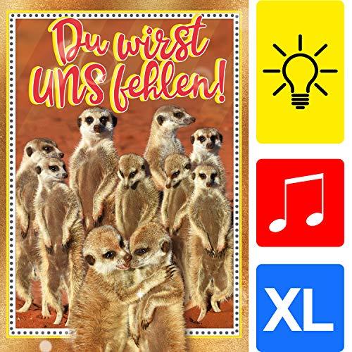 bentino XL Karte Abschied von Arbeitskollegen, Spielt den Song