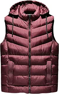 Macondoo Mens Multi Pockets Casual Fish Fit Zipper Outdoor Vest
