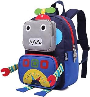 Mochilas niños - Robot de Dibujos Animados 3D Niños Mochilas Niños Jardín de Infantes Bolsas de Escuela Lindo Mochila de Viaje Al Aire Libre Casual Daypack