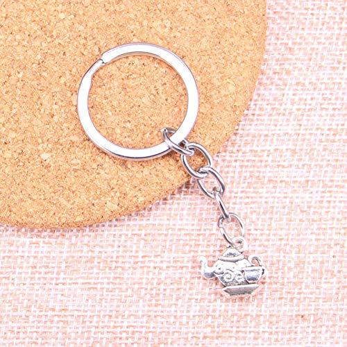 TAOZIAA theepot Sleutelhanger Vintage Sleutelhangers Sleutelhangers Hanger Mannen Gift Sieraden Voor Geschenken