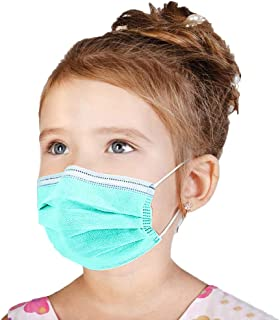 100 Pcs Disposable Cover for Kids,Oral Protection 3-ply Filter Against Dustproof Cover, High Filtration and Ventilation Security