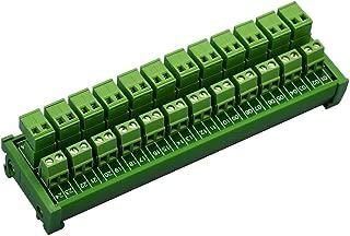 Conectores de alambre laterales 12 x 2 posiciones, 15 A//300 V M/ódulo de distribuci/ón de bloque de terminal de tornillo DIN Electronics-Salon